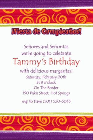 Custom Birthday Cumpleanos Invitations