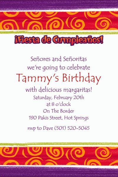 Custom Birthday Cumpleanos Invitations