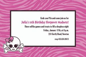 Custom Punk Princess Invitations