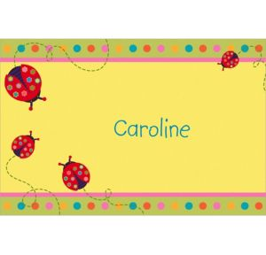 Custom Lady Bug Thank You Notes