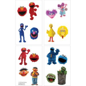 Sesame Street Tattoos 1 Sheet