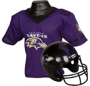 Child Baltimore Ravens Helmet & Jersey Set