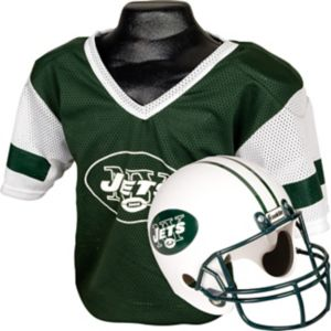 Child New York Jets Helmet & Jersey Set