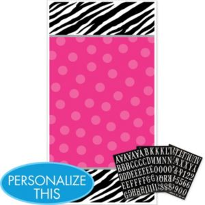 Personalized Door Decoration - Zebra Party