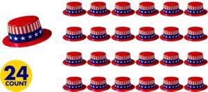 Patriotic Mini Top Hat 24ct