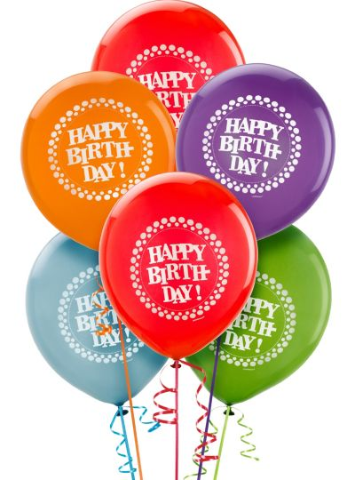 Happy Birthday Balloons 15ct - Party On