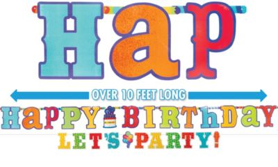 Let's Party Birthday Banners 2ct