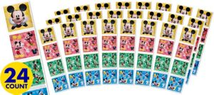 Mickey Mouse Sticker Square Packets 24ct