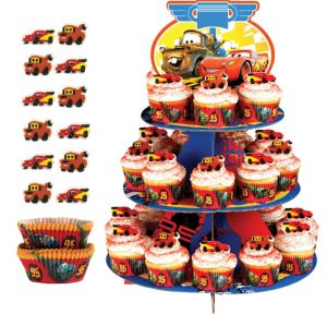 Deluxe Cars Cupcake Kit for 24