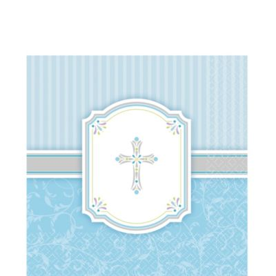 Boy's Communion Blessings Lunch Napkins 16ct