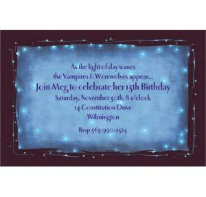 Custom Star Dust Invitations