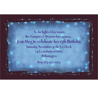 Star Dust Custom Invitation