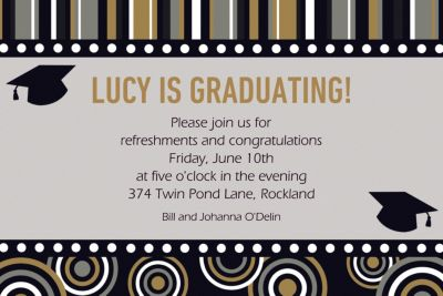 Grad Inspiration Custom Invitation