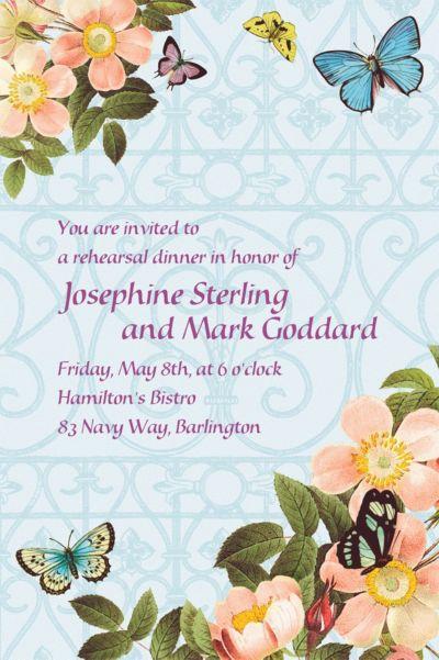 Custom Butterfly Dreams Wedding Invitations