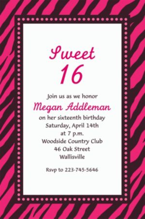 Custom Oh So Fabulous Birthday Invitations