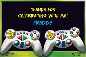 Custom Video Game Thank You Notes