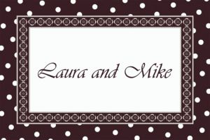 Custom Damask & Polka Dot Wedding Thank You Notes