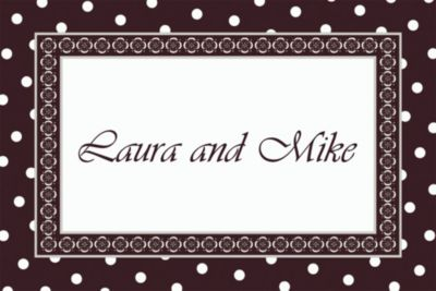 Damask & Polka Dot Custom Wedding Thank You Note