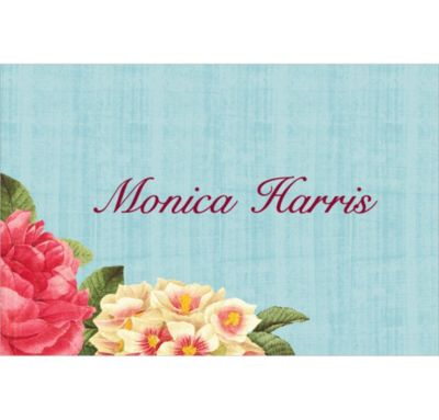 Blissful Blooms Custom Wedding Thank You Note