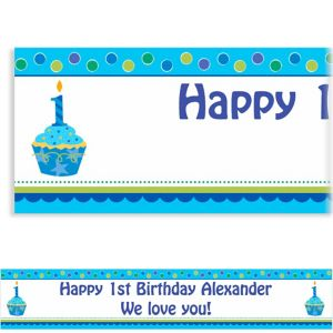 Custom Sweet Little Cupcake Boy Banner 6ft