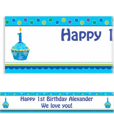 Sweet Little Cupcake Boy Custom Banner 6ft