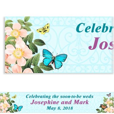 Butterfly Dreams Custom Wedding Banner