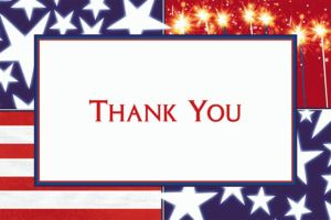 Custom Star Spangled Banner Welcome Home Thank You Notes