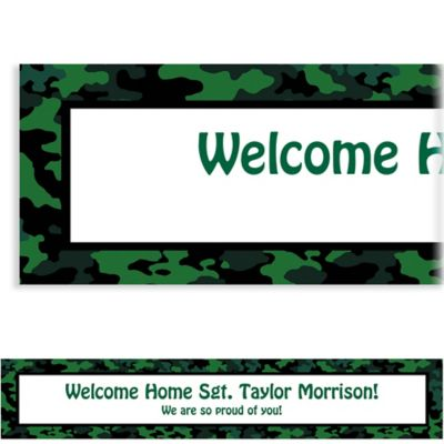 Custom Camouflage Welcome Home Banner 6ft