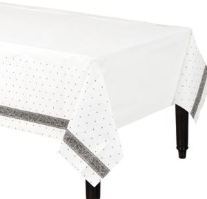 Black & White Wedding Table Cover
