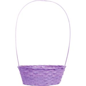 Purple Round Bamboo Easter Basket