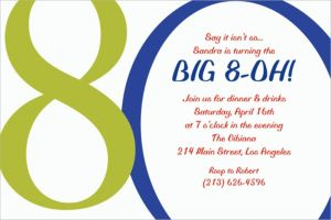 Custom Great Big 80th Invitations