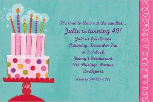 Custom Sweet Stuff Birthday Invitations