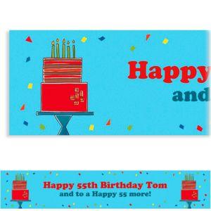 Custom Fetching Birthday Cake Banner 6ft