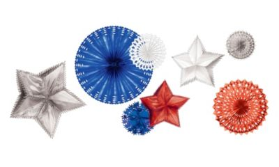Foil Patriotic Star Decorations 8ct