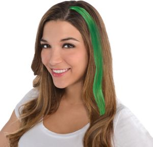Green Hair Extensions 15in