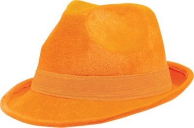 Orange Suede Fedora