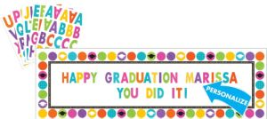 Colorful Commencement Personalized Giant Banner