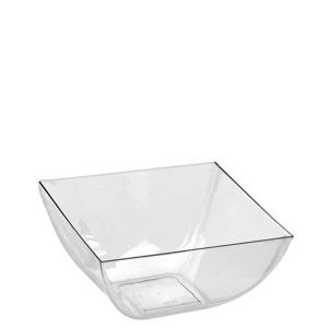 Mini CLEAR Plastic Square Bowls 10ct