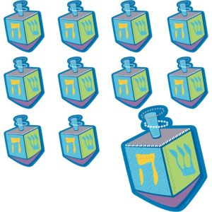 Dreidel Cutouts 12ct