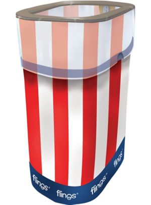Patriotic Red, White & Blue Pop-Up Trash Bin