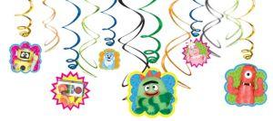 Yo Gabba Gabba! Swirl Decorations 12ct