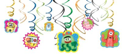Yo Gabba Gabba! Swirl Decorations 12ct