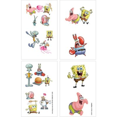 SpongeBob Tattoos 1 Sheet