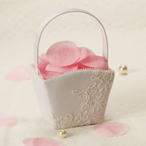 Modern Lace Wedding Flower Girl Basket