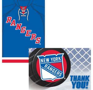 New York Rangers Invitations & Thank You Notes for 8