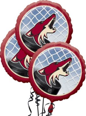 Arizona Coyotes Balloons 3ct