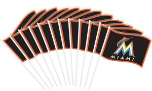 Miami Marlins Mini Flags 12ct