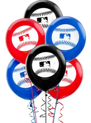 MLB Baseball Balloons 6ct