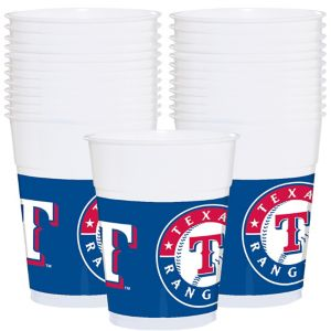 Texas Rangers Plastic Cups 25ct
