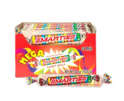 Mega Smarties Candy Rolls 24ct